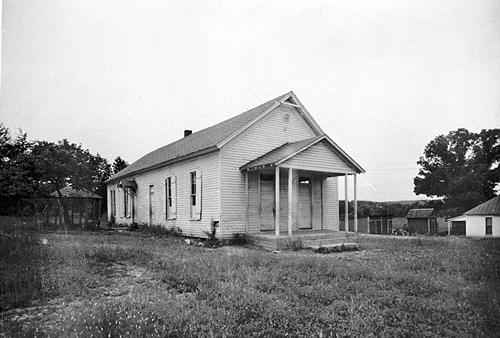 Cedar Grove School was built in 1910 with an addition added in 1938. The two-room structure was electrically lit. (Courtesy of Library Special Collections, WKU)