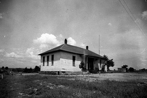Browning's two-room schoolhouse, built in 1917, was electrically lit. (Courtesy of Library Special Collections, WKU)
