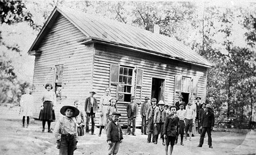 Zion's 18'x 24' schoolhouse was covered with a tin roof. (Courtesy of Library Special Collections, WKU)