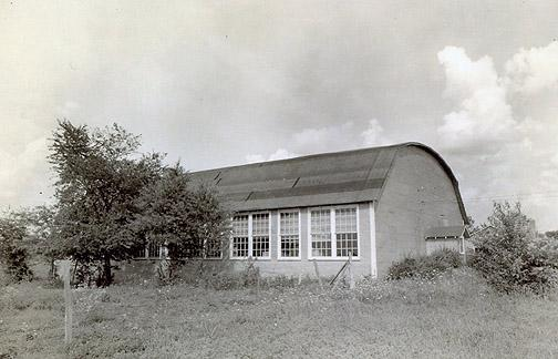 After the Rich Pond School burned in 1942, the gymnasium was converted to classrooms for elementary students. (Courtesy of Library Special Collections, WKU)