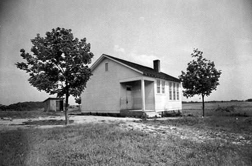 The Rockfield Rosenwald School used a one-teacher schoolhouse plan that included a 22' x 30' classroom, two cloakrooms,and one community room. African Americans contributed 23% of the $2,560 construction cost. Public monies totaled $2,100 with the Rosenwald grant adding $400. In 1928 Hughey Heater contracted to transport African American students on the Plano route to the Rockfield School. (Courtesy of Library Special Collections, WKU)