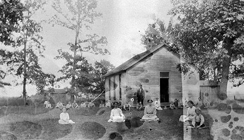 Locust Grove utilized a cistern to provide water for its students. (Courtesy of Library Special Collections, WKU)