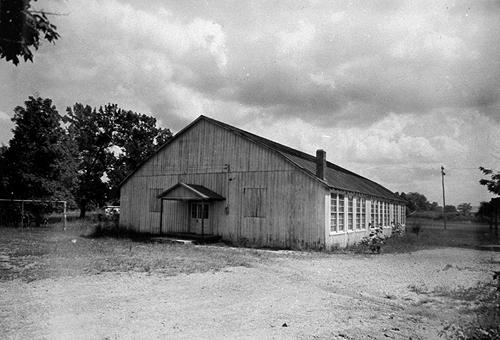After the Rich Pond and Woodburn schools burned in 1943, Woodburn's gymnasium was converted to a six-room school. (Courtesy of Library Special Collections, WKU)