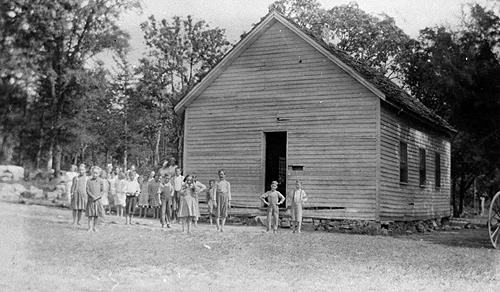 Cassie Taylor taught an average of 23 students at the Union Grove School in 1919. (Courtesy of Library Special Collections, WKU)