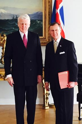 Iceland's President Olafur Grimsson and WKU President Gary A. Ransdell