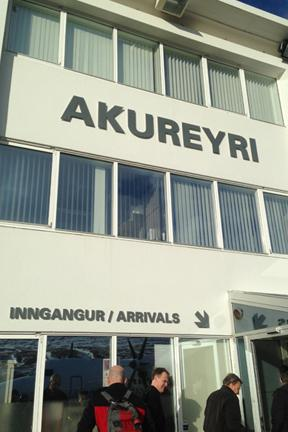 WKU President Dr. Gary A. Ransdell arrives at the Universtiy of Akureyri in Iceland
