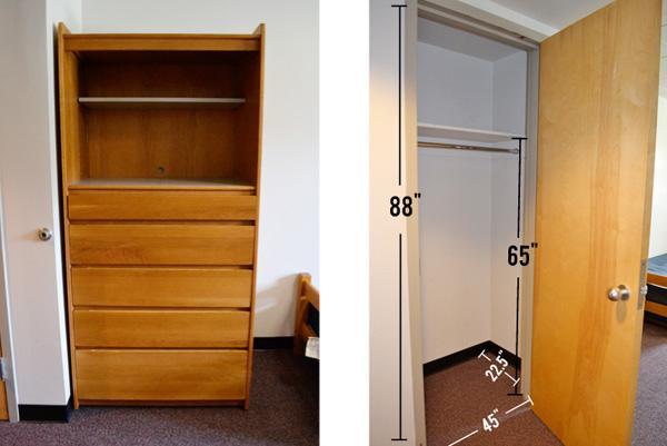 Dresser and Closet