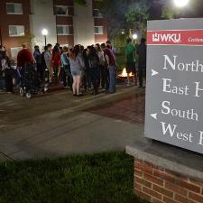 Residents enjoy games, s'mores, and community at a Northeast Hall social event