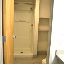 Private bathrooms shared with a roommate