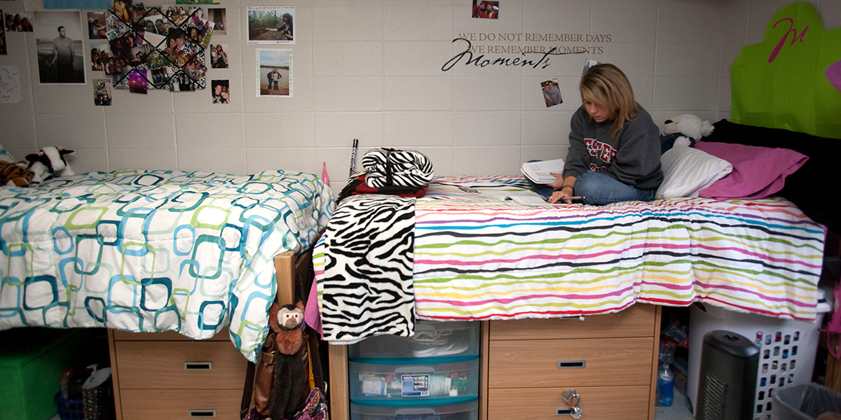 Student in room