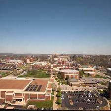 The view of campus from the 27th floor of PFT