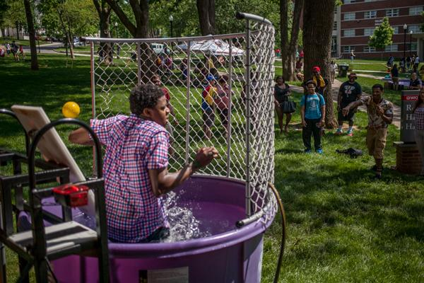 "Dunk tank outside Rodes Harlin Hall during ""Valleypalooza"""