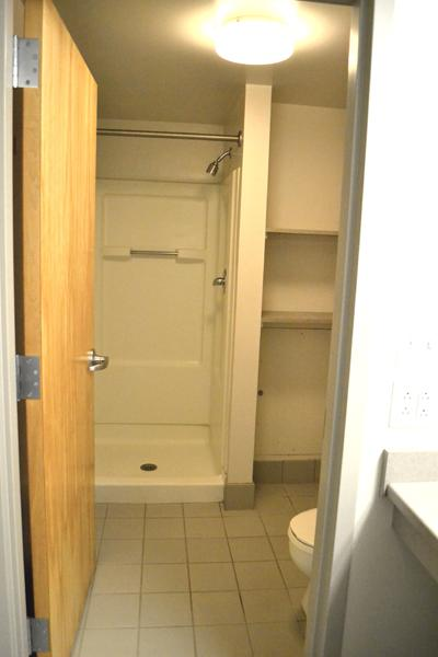 Private bathroom shared with a roommate