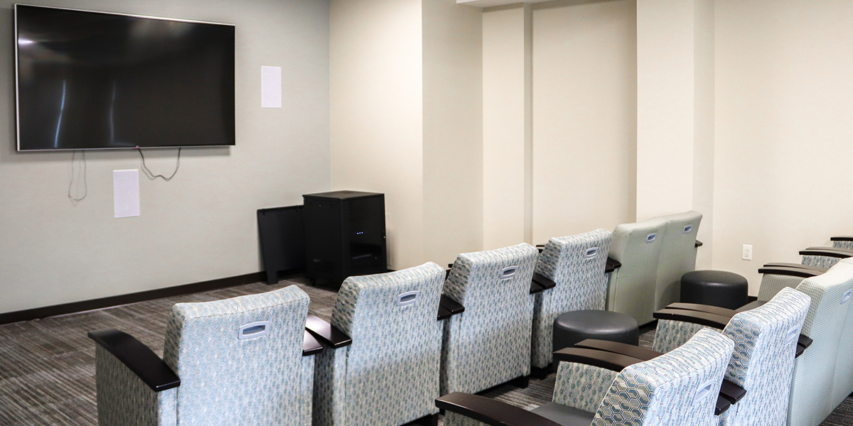 Theater room in Southwest Hall