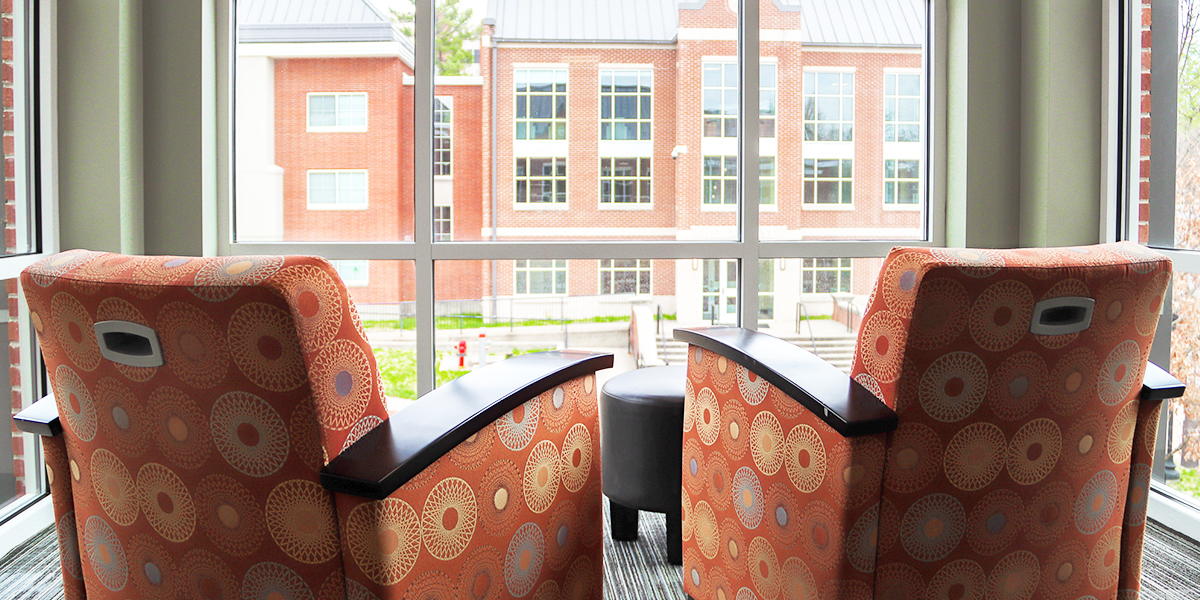 Lounge chairs in common room