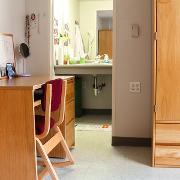View Desk, wardrobe, bathroom Larger