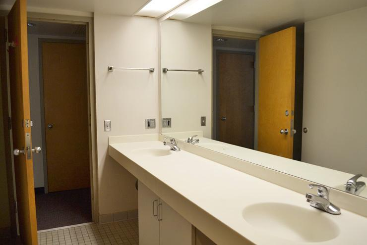 Suite-style rooms: two rooms share one bathroom