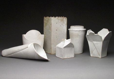 series of ceramic vessles