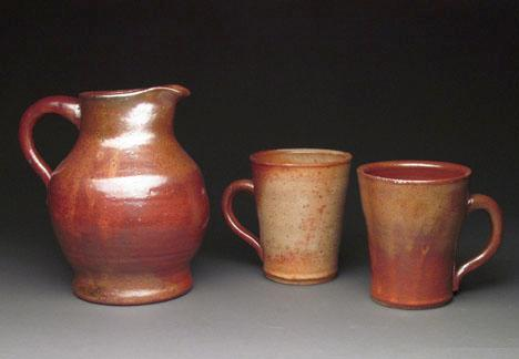 ceramic pitcher and cup