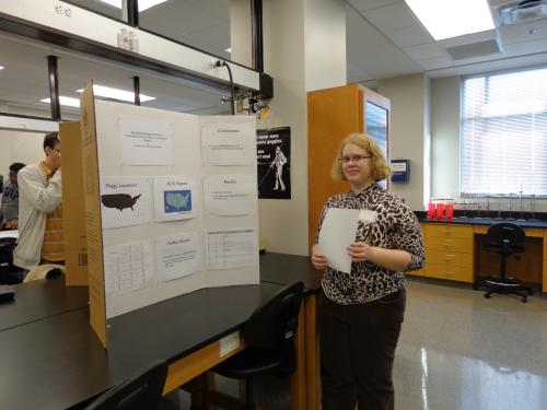 Miranda Parrish presenting her poster