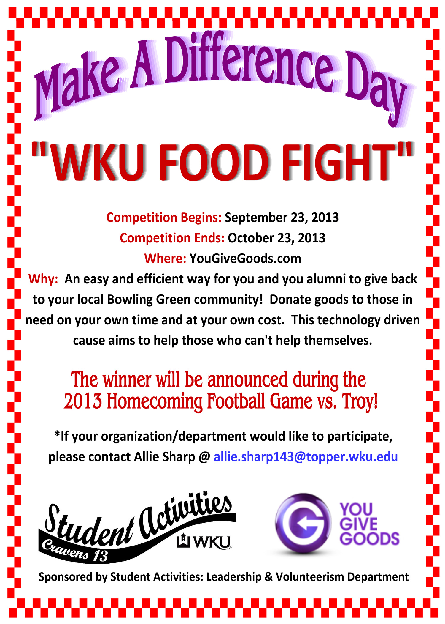 Food fight flyer