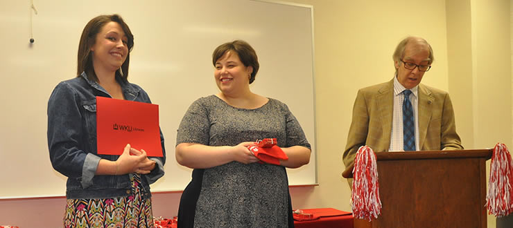 Libraries celebrates its graduating student assistants and scholarship recipient