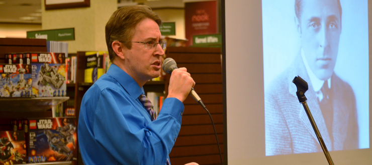 "Sean Kinder, Assoc. Prof., Library Public Services, WKU speaking about ""Una Merkel: The Actress with Sassy Wit and Southern Charm"" at Barnes & Noble on 10/13"