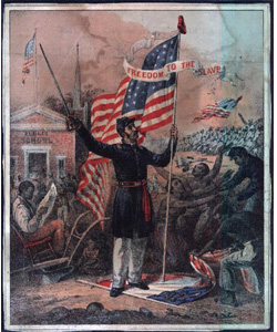African American Civil War Recruiting poster