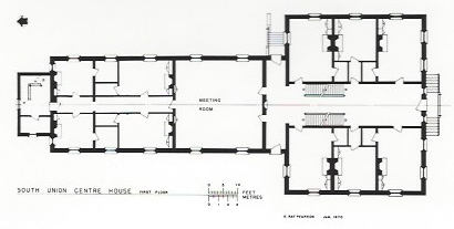 Floor plan of Shaker building