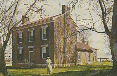 Postcard of Shaker building