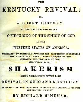 Title page of The Kentucky Revival by Richard McNemar