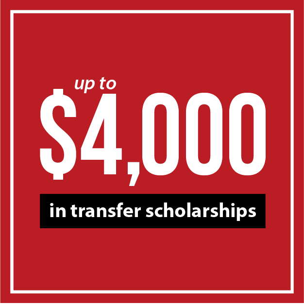 up to $4000 in transfer scholarships