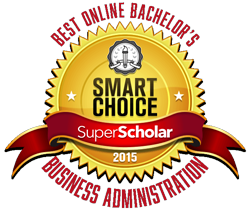 2015 Super Scholar Smart Choice Award for Best Online Bachelor's Degree Program