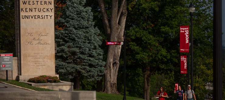 Pole banners on campus