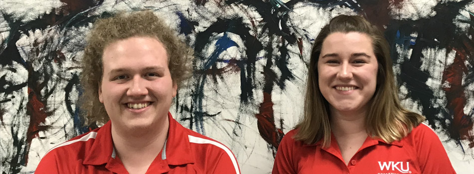 "Our Spring 2018 student ""Math Ambassadors"":  (from left) Jacob Menix and Rachel Turner."