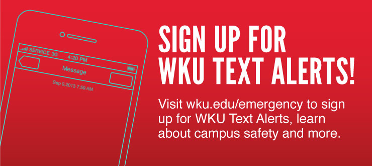 Sign up for WKU Text Alerts