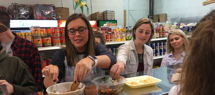 Ms. Vandermolen took her WKU Glasgow Spanish 102 students on a field trip to La Nacional Latino food market to learn about Hispanic culture. Students tried authentic Mexican and Peruvian snacks.