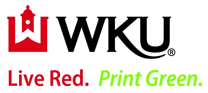 WKU - Live Red.  Print Green.