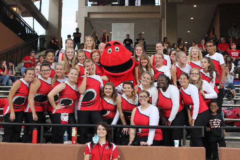 Colorguard with Big Red