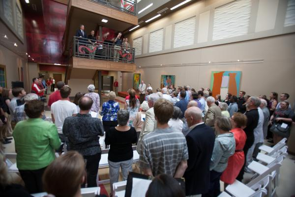 music hall dedication
