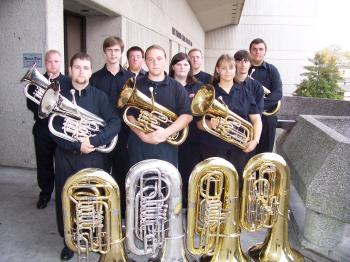 Picture of current tuba and euphonium ensemble