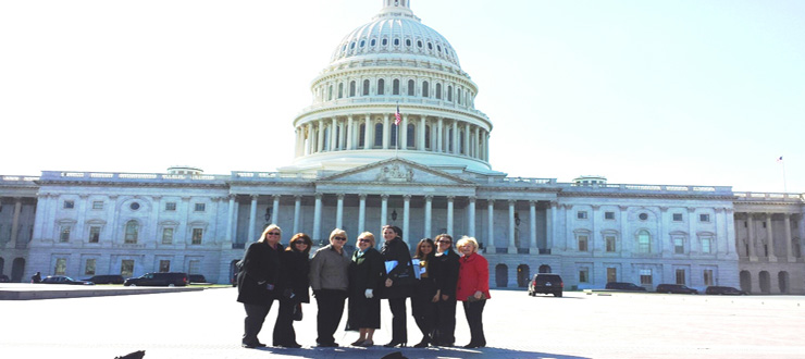 Kentucky Deans and graduate students in front of the Capital during Hill visits with legislators.