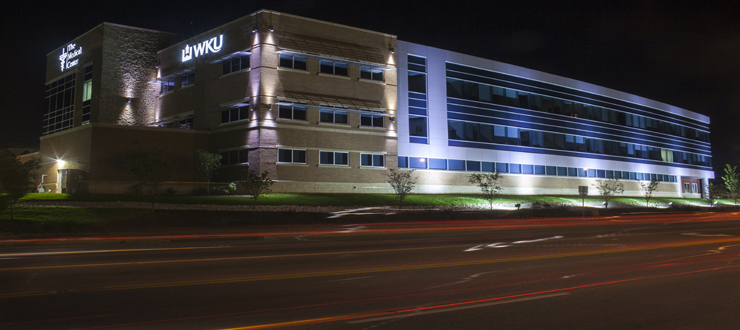 Picture of WKU Medical Center Health Science Complex at Night