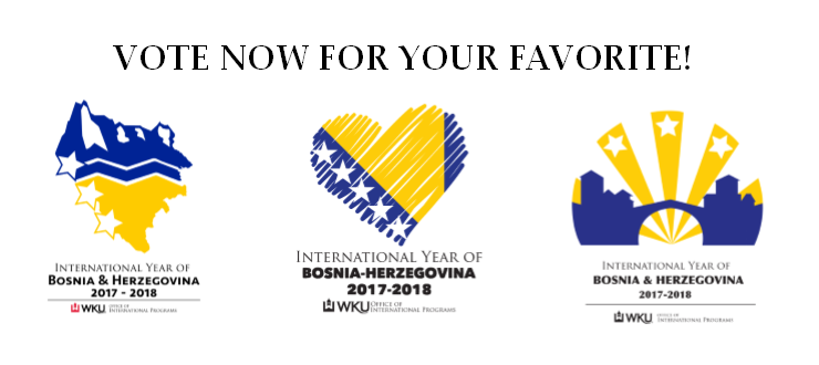 Help the Office of International Programs select the logo for the IYO Bosnia & Herzegovina in 2017-2018.  Click the image to vote!