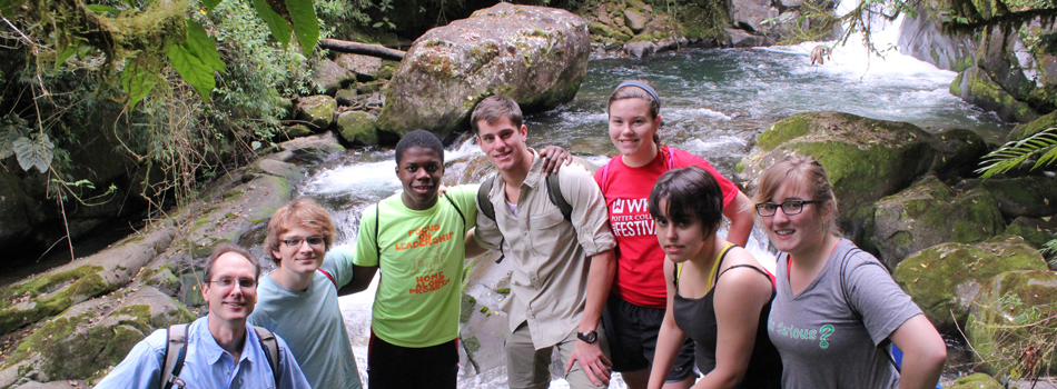Dr. Keith Philip's study abroad class in Costa Rica, January 2012.