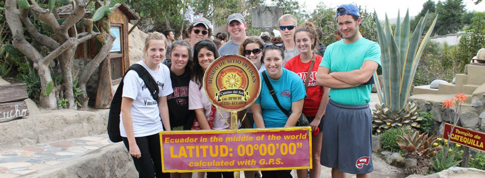 27 WKU students participated in a January 2012 Winter Term Course in Ecuador. While the major emphasis of the course was on food production systems and issues, the group participated in visits historical and cultural sites including the gold-leafed sanctuaries inside the churches of Old Quito, took a tram ride to 13,000 feet, and experienced scientific experiments at the Middle of the World.