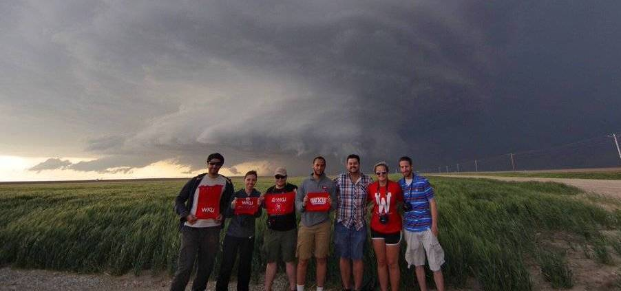 Storm chasing students make their way across Texas and the southern Great Plains.