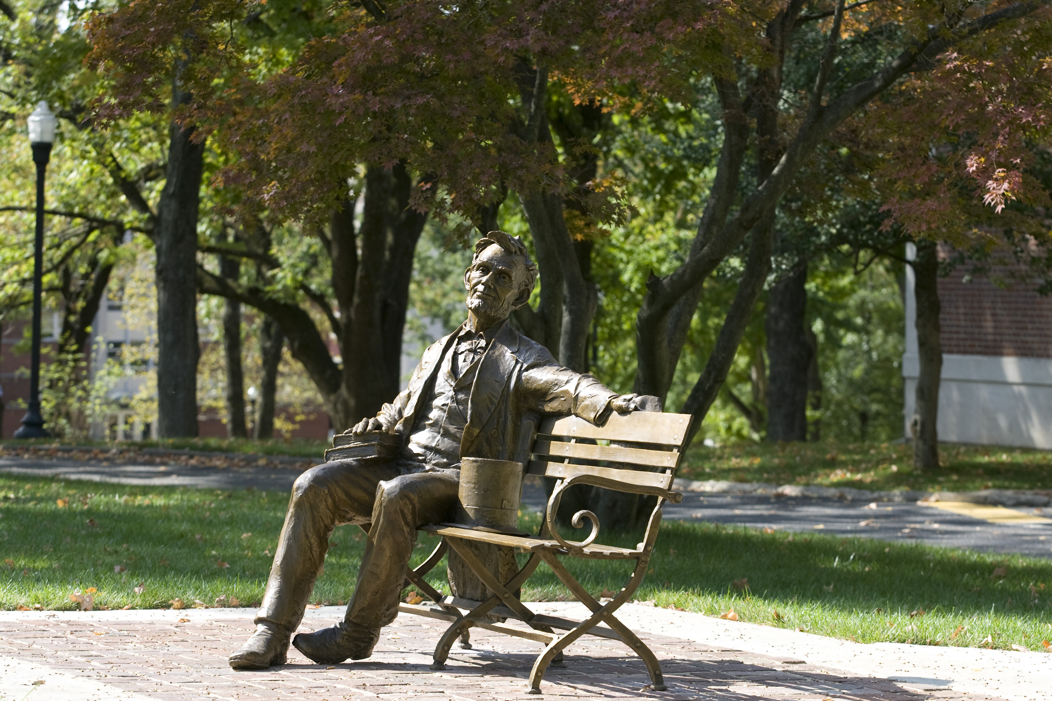 Abe Lincoln on Bench, WKU Campus