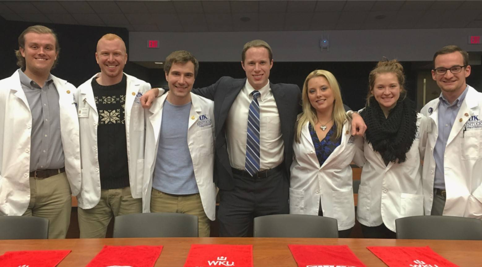 WKU Fall 2015 graduates now attending UK Medical school - class of 2019.