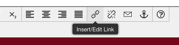 JustEdit WYSIWYG toolbar, showing Insert/Edit Link button